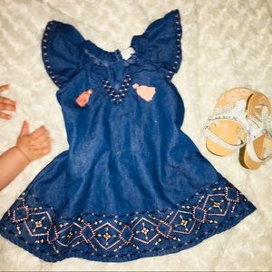 Jessica Simpson Embroidered Baby Girl Dress♥️